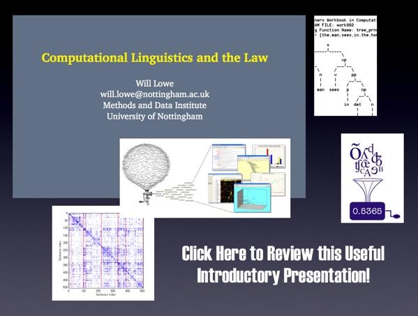 Comp Linguistics & Law