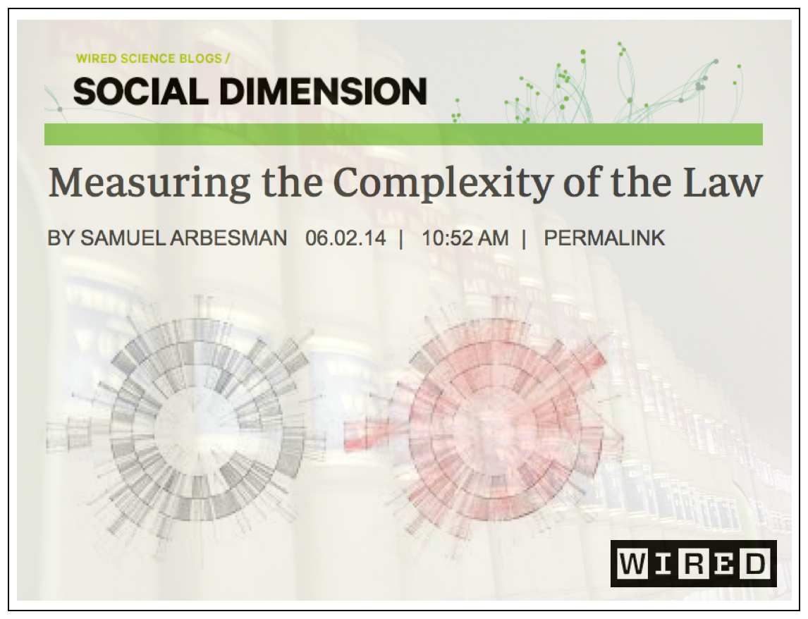 Measuring the Complexity of the Law (via Samuel Arbesman - Wired ...
