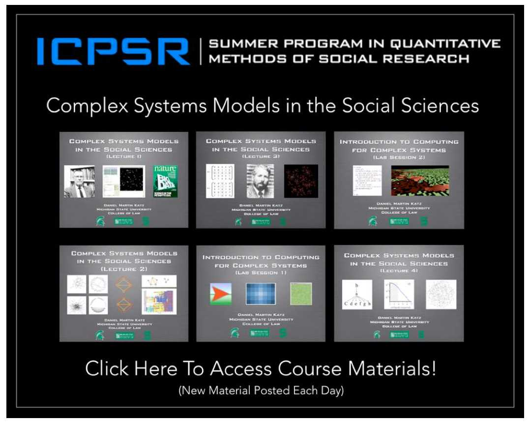 Iscpr complex systems summer