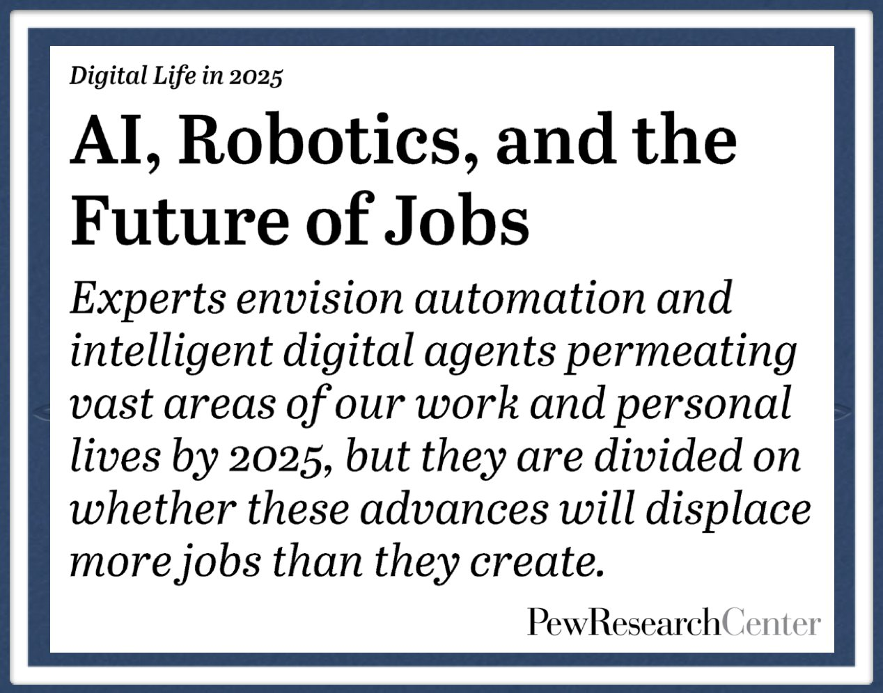 artificial intelligence  robotics and the future of jobs